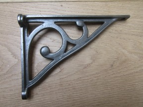 "Pair Of 7"" Ashwell Scroll Shelf Brackets Antique iron"