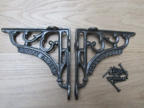 "Pair Of 6"" Covent Garden Shelf Brackets Antique Iron"