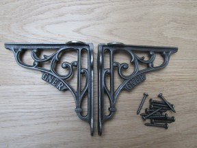 "Pair Of 5"" GNER Shelf Brackets Antique Iron"