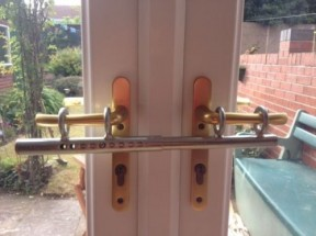 Intrudaloc patio door deadlock