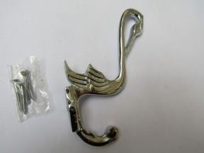 Pack Of 5 Pelican Coat Hooks Polished Chrome