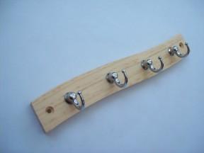 Solid pine key ring hanger
