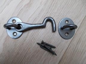 """4"""" Plain Cast Iron Cabin Hook Antique iron"""