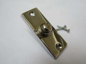 Plain Victorian Slim Bell Push Polished Chrome
