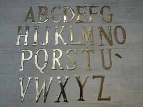 """3"""" Polished Brass Letter U"""