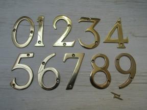 """3"""" Polished Brass Number 5"""