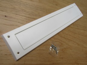 PVC Drought Letter Box With Flap White