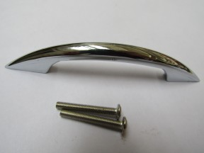 Rear Fix Arched Cabinet Pull Handle Polished Chrome