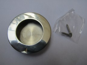 Polished Steel 65mm small Round recessed handle