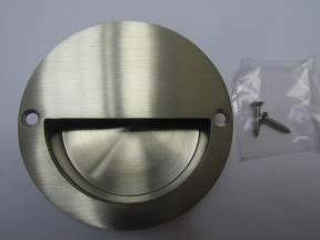 Satin Steel Large 90mm Recessed Handle