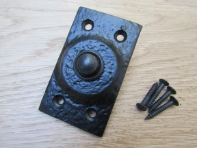 Rectangular Bell Push Black Antique