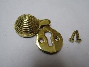 Beehive Covered Escutcheon Polished Brass