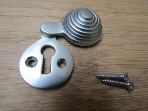 Beehive Covered Escutcheon Satin Chrome