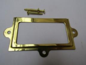 Large Retro Filing Cabinet Card Holder polished brass