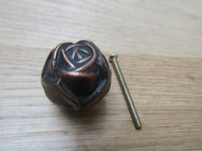 Rose Cabinet Knob Antique Copper