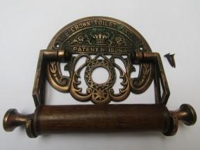 Crown Toilet Roll Holder Antique Copper
