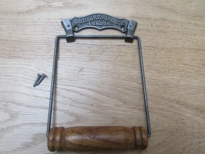 British Paper Co Toilet Roll Holder Antique Iron