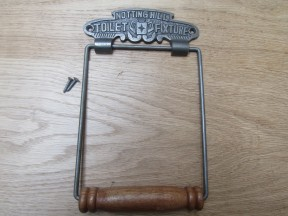 Noting Hill Toilet Roll Holder Antique Iron