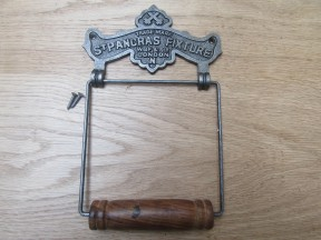 St Pancras Toilet Roll Holder Antique Iron