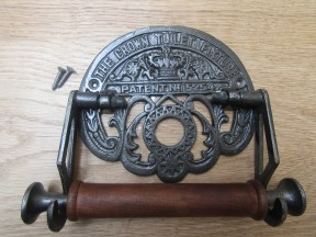 Crown Toilet Roll Holder Antique Iron