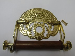 Crown Toilet Roll Holder Polished Brass