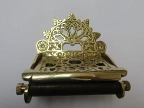 Decorative Toilet Roll Holder Polished Brass