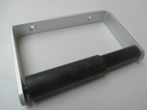 Basic Toilet Roll Holder Satin Aluminium