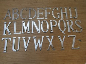 "3"" Satin Chrome Letter X"