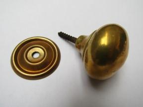 Screw In Cabinet Knob Antique Brass 32mm