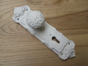 Shabby Chic Knob Coat Lock Hook White Patina