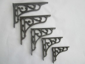 antique Iron victorian style scroll brackets