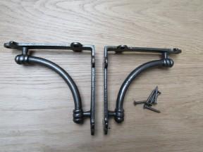 Pair Of Small Albion Shelf Brackets Antique Iron