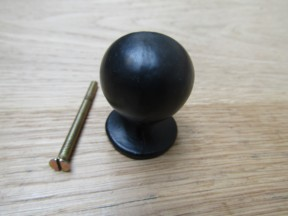 30MM Ball Cabinet Knob black antique