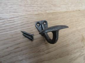 Small Bowler Single Robe Hook Antique Iron
