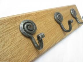 Antique Iron Snail 3 Hook Coat Rail 38cm