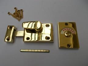 Bathroom door Indicator bolt Polished Brass