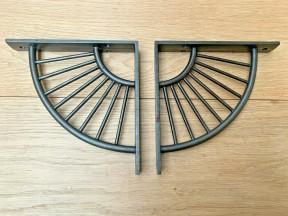 Pair Of Sunrise Shelf Brackets Antique Iron
