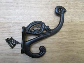 Pack Of 5 Swan P Coat Hooks Black