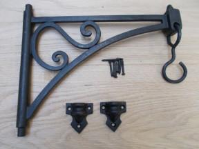 Pair Of Swivel Hook Shelf Brackets Black Wax
