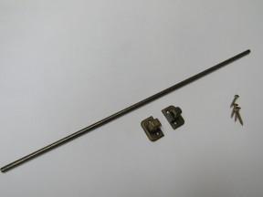Tie Belt scarf Rail Antique Brass