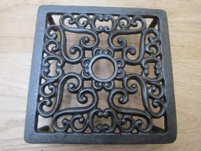 Cast Iron Ornate Square Trivet