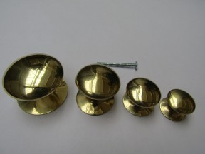 Victorian Cabinet Knob Polished Brass 38mm