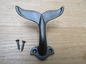 Whale Tail Hook Antique Iron