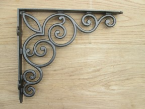 Ornate shelf support bracket