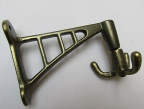 Projecting Swivel Hook antique brass