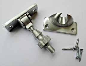 Satin Brushed Chrome Brighton Screw Down Fastener