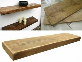 Raw Unfinished Rustic Wood Scaffold Timber 80 x 35 x 22cm