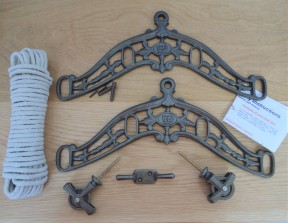 Edwardian Antique Iron Clothes Airer Kit Only