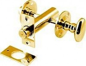 Brass bathroom door lock