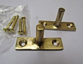 Window Stay Replacement Pins Polished Brass